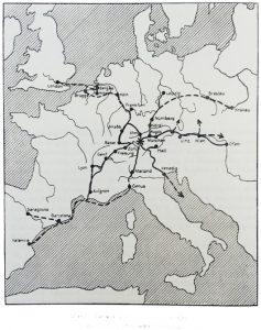 Handelsbeziehungen Isnys im Mittelalter | ___Fernhandel - - -Leinwandabsatz